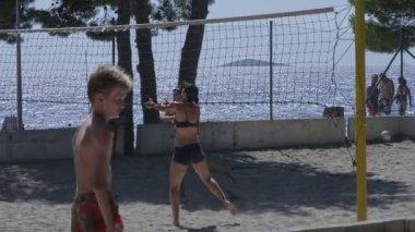 Primosten Beach volleyball — Stock Video