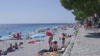 Primosten pebble beach — Vídeo de stock