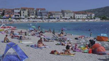 Primosten beach — Vídeo de stock