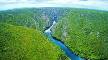 Krka river flow - National park — Stock Video