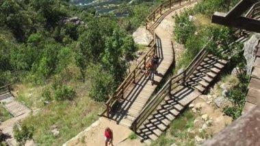 Krka nature park trail — Stock Video