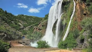 Waterfall Krcic in Knin — Stock Video