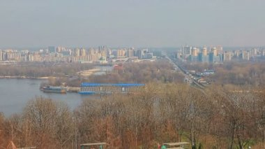 Panorama of Dnieper, Kiev — Stock Video
