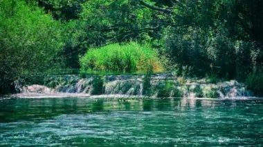 Beautiful Krka river — Stock Video