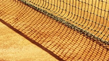 Tennis net with shallow depth of field. — Stock Video