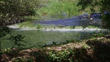 Krka river cascade — Stock Video