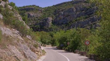 Karst nature road — Stock Video