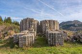Pre-romanesque church ruins, Rotonda — Stock Photo