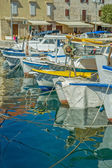 Moored boats in Supetar — Stock Photo