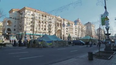 Euromaidan revolution in Kiev — Stock Video