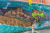 Melbourne graffiti — Stock Photo