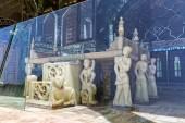 Golestan Palace throne behind glass — Stock Photo