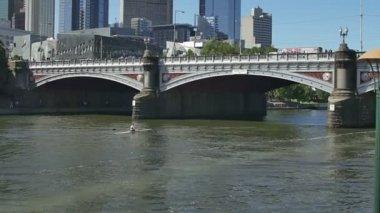 Melbourne Princes bridge — Stock Video