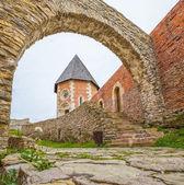 Kaple a stěny na medvedgrad hrad — Stock fotografie