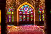 Nasir Al-Mulk Mosque interior — Stock Photo