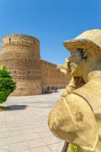 Shiraz Vakil Fortress photographer statue — Stockfoto