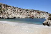 Sostis Bay. Cretan beach. Mediterranean landscape. Greece — Zdjęcie stockowe