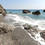 Cretan pebble beach. Mediterranean sea. Greece — Stock Photo #52277691