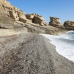 Triopetra pebble beach. Mediterranean sea. Greece — Stock Photo #52277707