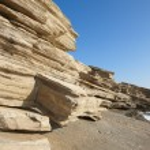 Rocks at Triopetra beach. Mediterranean sea. Greece — Stock Photo #52277715