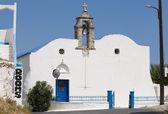 Greek white church in Komitades. Crete. Greece — Stock Photo