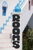 Rooms for rent advertising in Crete. Greece — Stockfoto