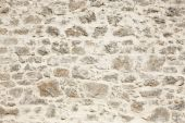Stonewall with white cement detail. Horizontal — Stock Photo