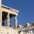 Acropolis of Athens. Older temple of Athena Polios and Parthenon — Stock Photo #52581057