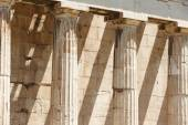 Doric columns in the Temple of Ephesto in Athens. Greece — Stock Photo