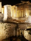 Acropolis of Athens by night. Greece — Stock Photo