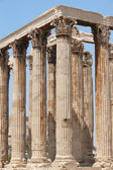 Temple of Zeus in Athens. Corinthian order. Greece — Stock Photo