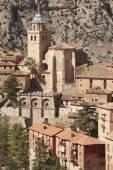 スペインの美しい町。大聖堂と古代の要塞。albar — ストック写真