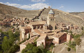Ancient cathedral in the picturesque village of Albarracin. Spai — Stock Photo