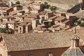 Dachówka detal dachu w malowniczej miejscowości Albarracín. Hiszpania — Zdjęcie stockowe