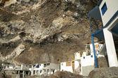 Houses in a natural cave. Poris de la Candelaria. Spain — Foto Stock