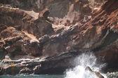 Volcanic rocks and beach. La Palma. Spain — Stock Photo