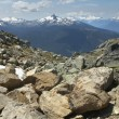 Whistler landscape with rocks and mountains. British Columbia. C — Stock Photo #61276607