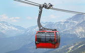 Chair lift and mountains in Whistler. Vancouver. Canada — Stock Photo