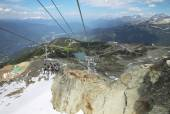 Chair lift and mountains in Whistler. British Columbia. Canada — Stock Photo