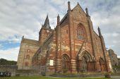 Scottish church in Kirkwall, Orkney. St Magnus. Scotland. UK — Stok fotoğraf