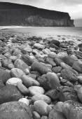 Scottish landscape in Orkney. Hoy pebble beach. Scotland — Stock Photo