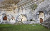 Ancient chapel in a cave. Ojos de Guarena. Burgos. Spain — Stock Photo