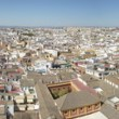 Panoramic view of Seville city from La Giralda tower. Spain — Stock Photo #65357377