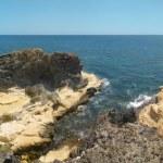 Mediterranean coastline and beach panoramic view in Almeria. Spa — Stock Photo #66717527