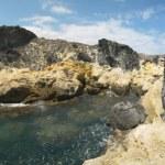 Mediterranean coastline and beach panoramic view in Almeria. Spa — Stock Photo #66956591