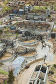 Old gold mining exploitation method miniature model — Stock Photo