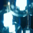 Bulbs in blue tone with out of focus background — Stock Photo #74886905