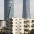 Skyscrapers financial area, blocks and overpass in Madrid, Spain — Stock Photo #77260280