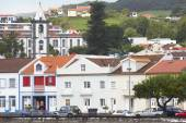 Azores traditional urban landscape in Faial island. Horta villag — Stock Photo