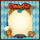 Scroll the menu Oktoberfest — Wektor stockowy